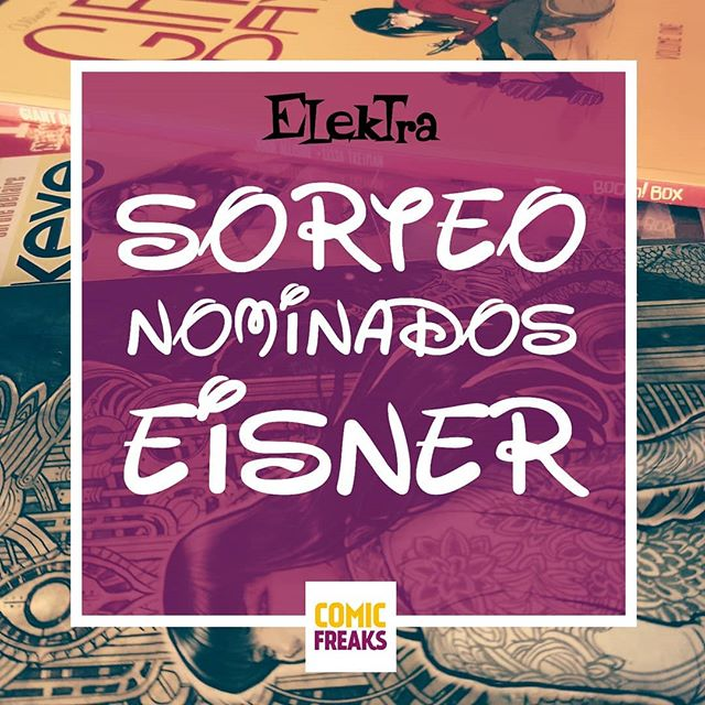 Sorteo nominados Eisner 2018